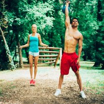 Action lifestyle mit Outdoorfitness